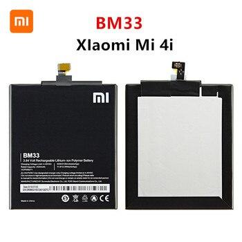 Xiao mi 100% Orginal BM33 3120mAh Battery For Xiaomi 4i Mi 4i Mi4i M4i BM33 High Quality Phone Replacement Batteries original xiaomi bm33 high capacity phone battery for xiaomi mi 4i mi4i phone 3120mah