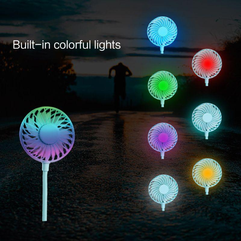 High Quality Portable Rechargeable Home Hands Free Hanging Neck Led Mini Plastic Hang neck Wearable Sports Fan For Children