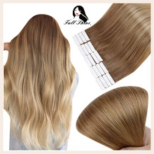 Full Shine Ombre Color Tape in Hair Machine Remy Human Hair Extensions 20 Pieces 50 Gram For Woman Glue on Hair Extension