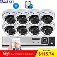 Gadinan 8CH 4MP CCTV Sicherheit NVR Kit System 4MP 3MP POE Audio Record Dome Outdoor POE IP Kamera P2P Video überwachung Set