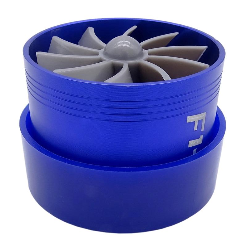 F1-Z Universal Kompressor Turbo Turbonator Air Intake Fuel Gas Saver Wirtschafts Fan Drop Verschiffen Aluminium legierung Blau