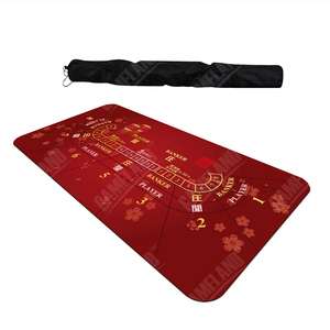 1.8 x 0.9m Texas Hold'em Baccarat Poker Thickening Mat Various Pattern Rubber Gaming Pad Casino Card Game(China)