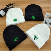 Bonnet tricoté pour femme et homme, solide, chaud, style Hip-hop, à la mode, cadeau de fête, nouvelle collection