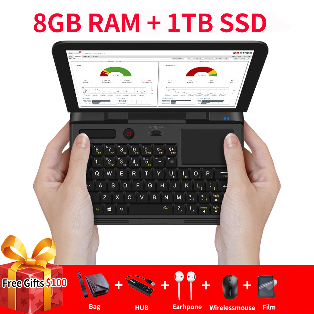 Micro-ordinateur Portable GPD Micro-ordinateur Windows 10 6 go RAM 128 go SSD WIFI Bluetooth poche Mini ordinateur Portable ordinateur Portable