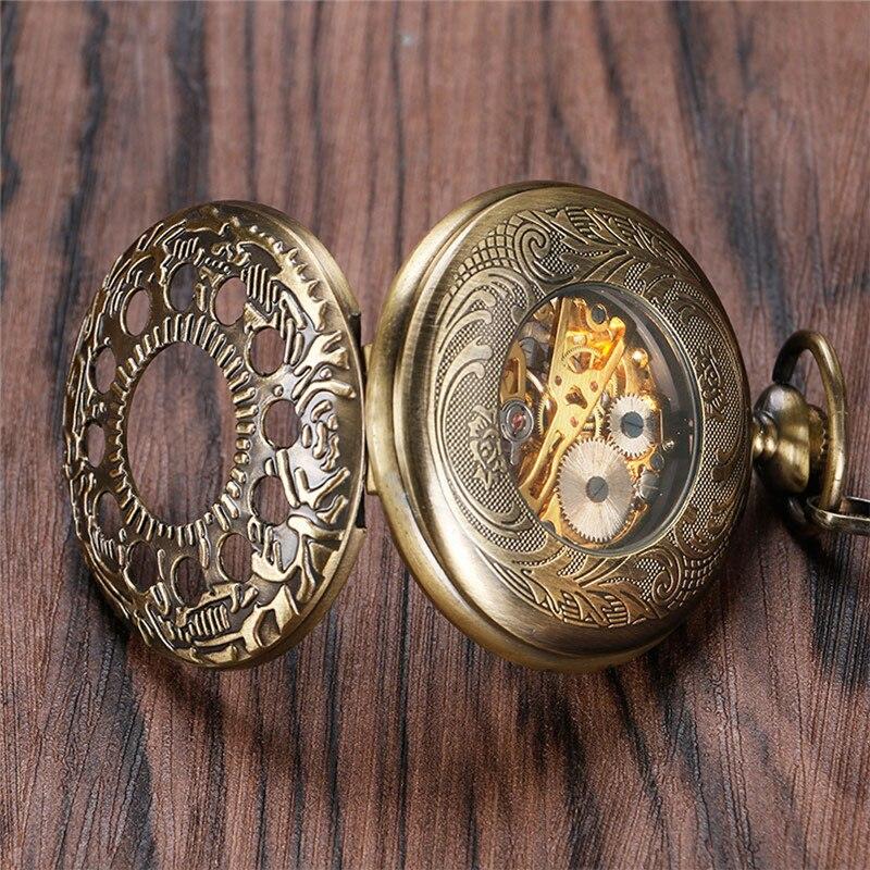 relógio esqueleto numeral romano pingente corrente colecionável