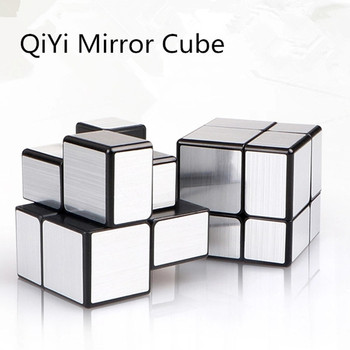 2x2 QiYi Magic Mirror Cubes Cast Coated Puzzle 2x2 Cube Professional Speed Magic Cube  Magico Education Toys For Children qiyi qidi s 2x2 magic cube speed cube toy professional speed puzzle cube training brain toys gifts for children