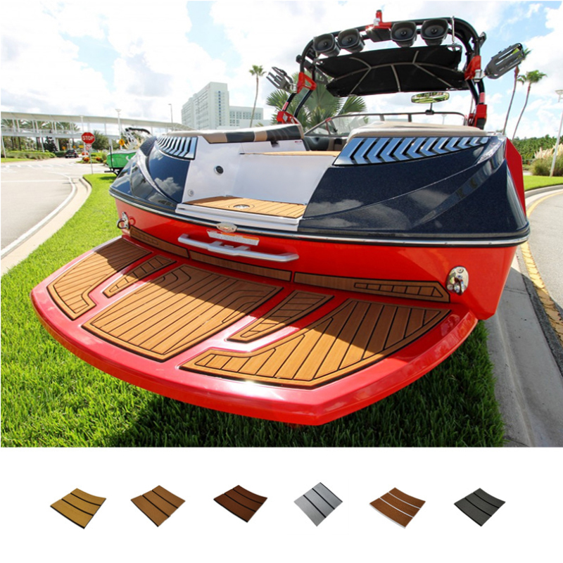 1 Pcs 6mm Thick Self-Adhesive 94x23'' Foam Teak Decking EVA Foam Marine Flooring Boat Decking Sheet Accessories 6 Color Non-skid