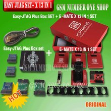 New version Full set Easy Jtag plus box + MOORC E MATE X E MATE PRO BOX EMMC BGA 13 IN 1 For HTC/ Huawei/LG/Motorola /Samsung..