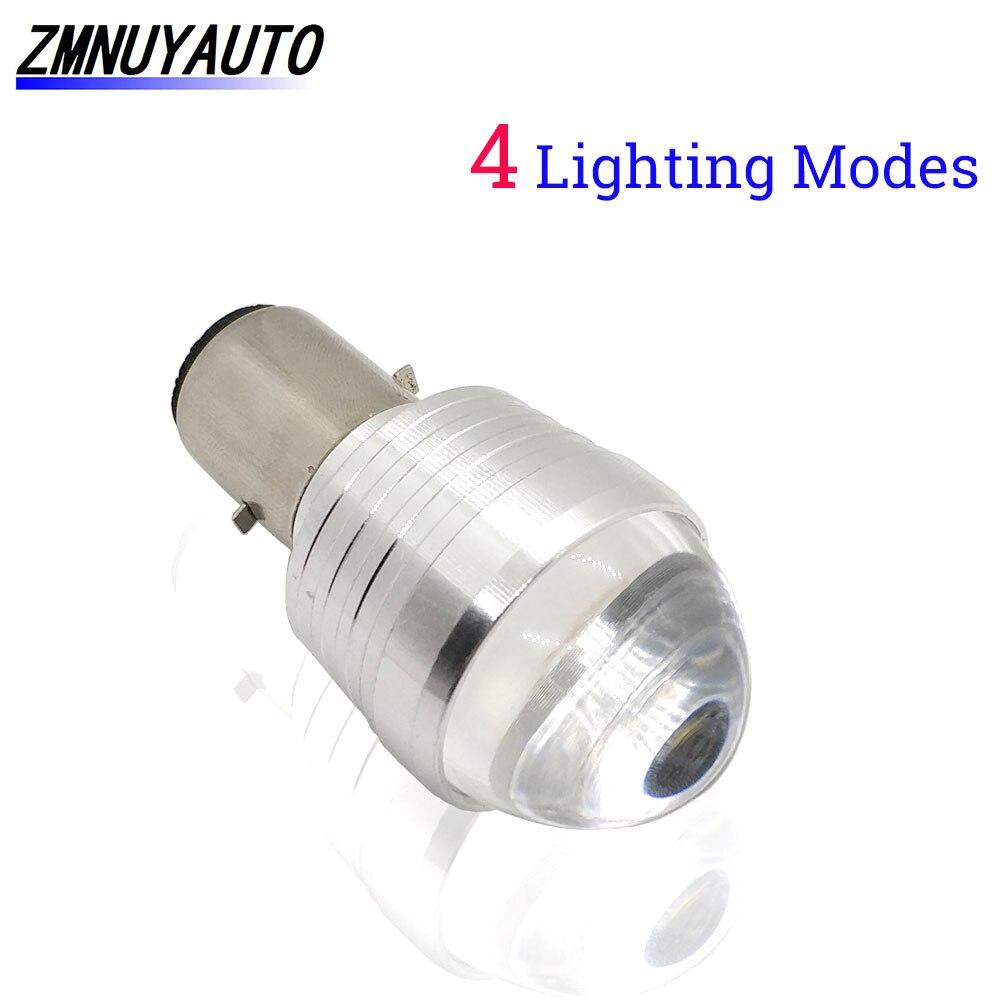 12V 1200lm Headlight Bulb High//Low Beam LED Lamp For Roller// Moped// Motor Light