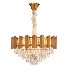 Modern Crystal Chandelier Lighting Dining Room Kitchen Island Bedroom Chain Loft Chandeliers Ceiling Gold/Chrome Light Fixtures modern crystal chandeliers for dining room gold crystal chandelier pendants crystal light fixtures ceiling chandelier lighting