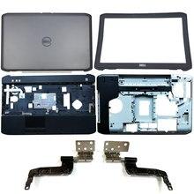 Novo para dell latitude e5520 5520 portátil lcd capa traseira/moldura dianteira/dobradiças/encosto de mãos/caixa inferior 03hv0y 0 phx0 jj jpwnv 0w4mcw