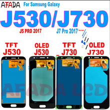 Pantalla LCD Super Amoled para móvil, montaje de digitalizador de pantalla táctil para Samsung Galaxy J7 Pro 2017, J730, J730F, J5 Pro, J530, J530F