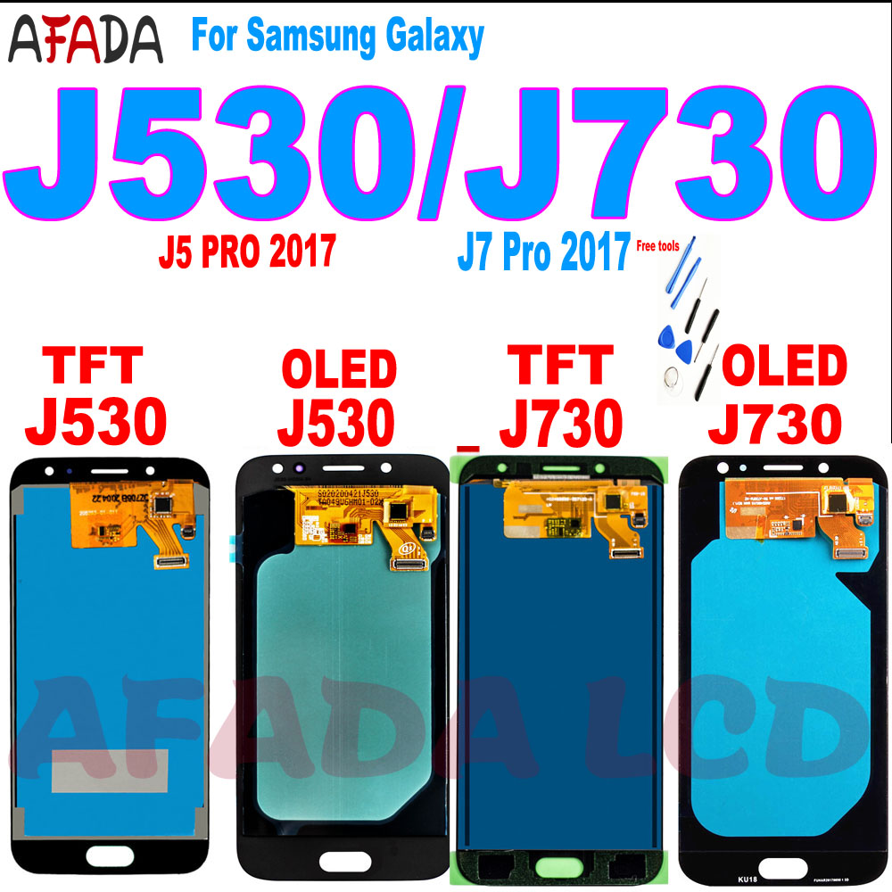Super Amoled LCD For <font><b>Samsung</b></font> <font><b>Galaxy</b></font> J7 Pro <font><b>2017</b></font> J730 J730F LCD <font><b>Display</b></font> Touch Screen Digitizer Assembly <font><b>J5</b></font> Pro J530 J530F LCD image