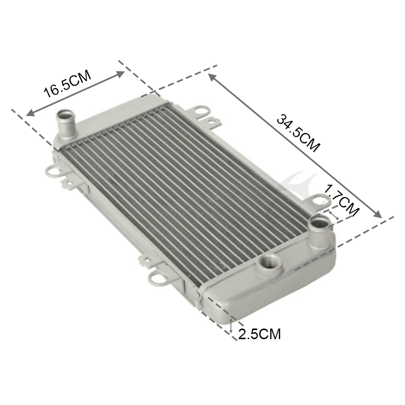 Image 3 - Motorcycle Radiator Cooler Cooling For Kawasaki EX250 ninja 250R 2008 2012 08 09 10 11 12-in Engine Cooling & Accessories from Automobiles & Motorcycles