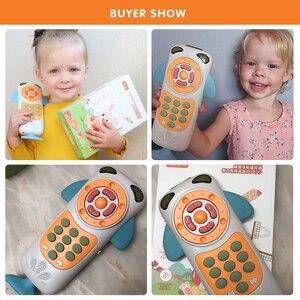 Image 4 - Tumama bebê telefone móvel aprendizagem precoce educacional telefone crianças brinquedos musicais para o bebê música telefone