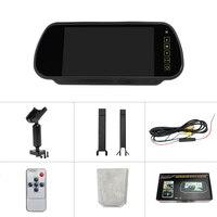 7 Inch Rückansicht Kamera HD Auto Spiegel Monitor Parkplatz Überwachung Rückfahr Video Recorder Fahren Retrovisor Multimedia