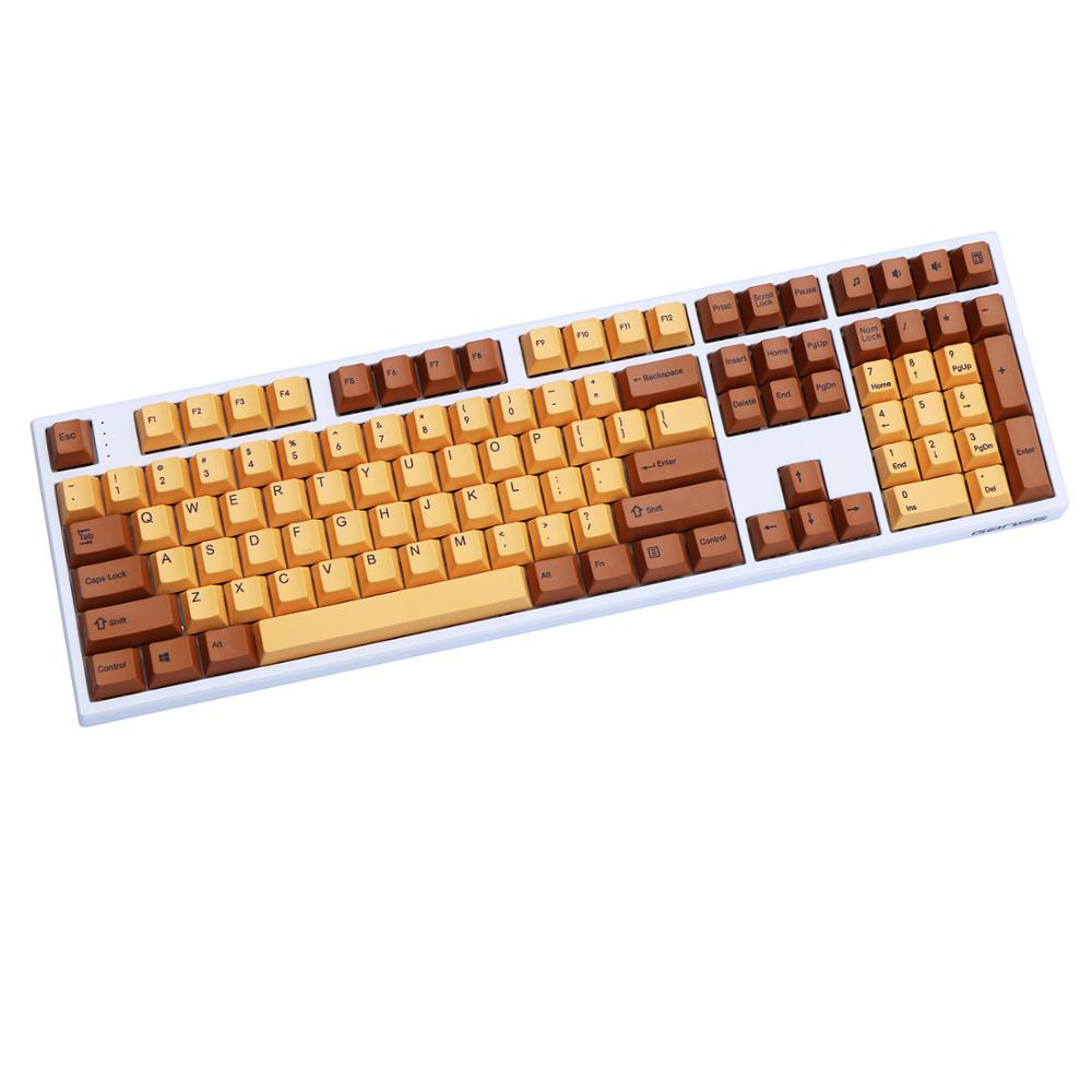 Chocolate PBT Keycap Dye Sublimated 108/130 Keys Mechanical Keyboard Cherry Profile For Cherry/Filcos/Ikbc Only Sell Keycaps