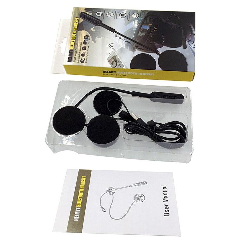 Microphone Bicycle Helmet Earphone Handsfree Speaker Call Control Motorcycle Helmet Bluetooth 5.0 Headphones