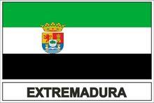 Etiqueta criativa bandeira extremadura para motocicleta portátil carro rv suv adesivos de parede