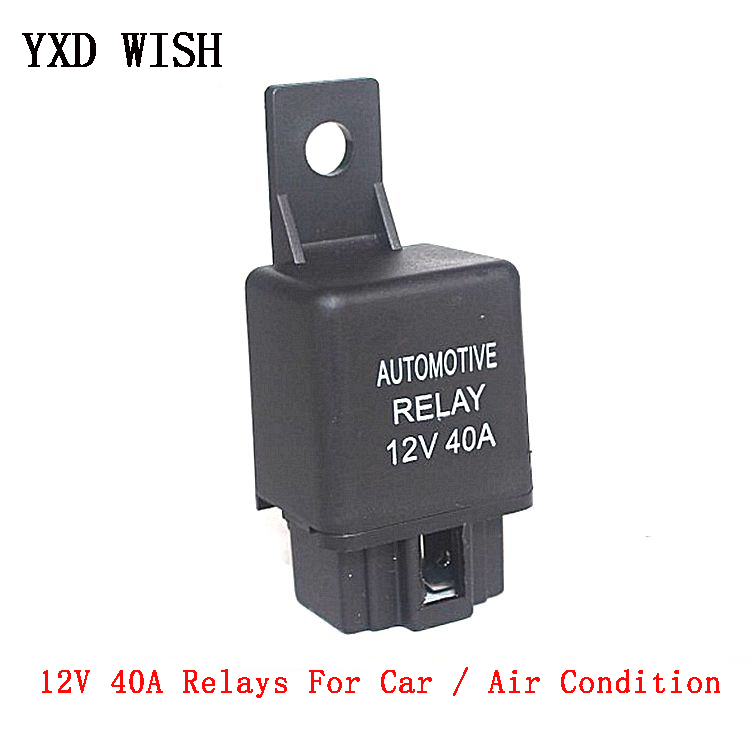 12V <font><b>40A</b></font> Air Condition Relay <font><b>40A</b></font> 4Pin For Air Conditioner Plastic back Car Relays <font><b>DC</b></font> <font><b>12</b></font> V Normally open Relay image