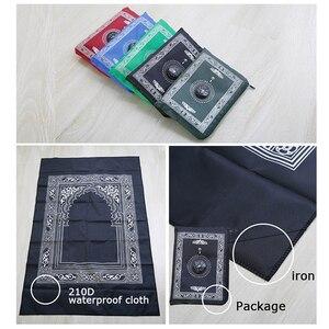 Image 3 - Alfombra de oración musulmana suave para dormitorio, cojín, decoración del hogar, para rezar