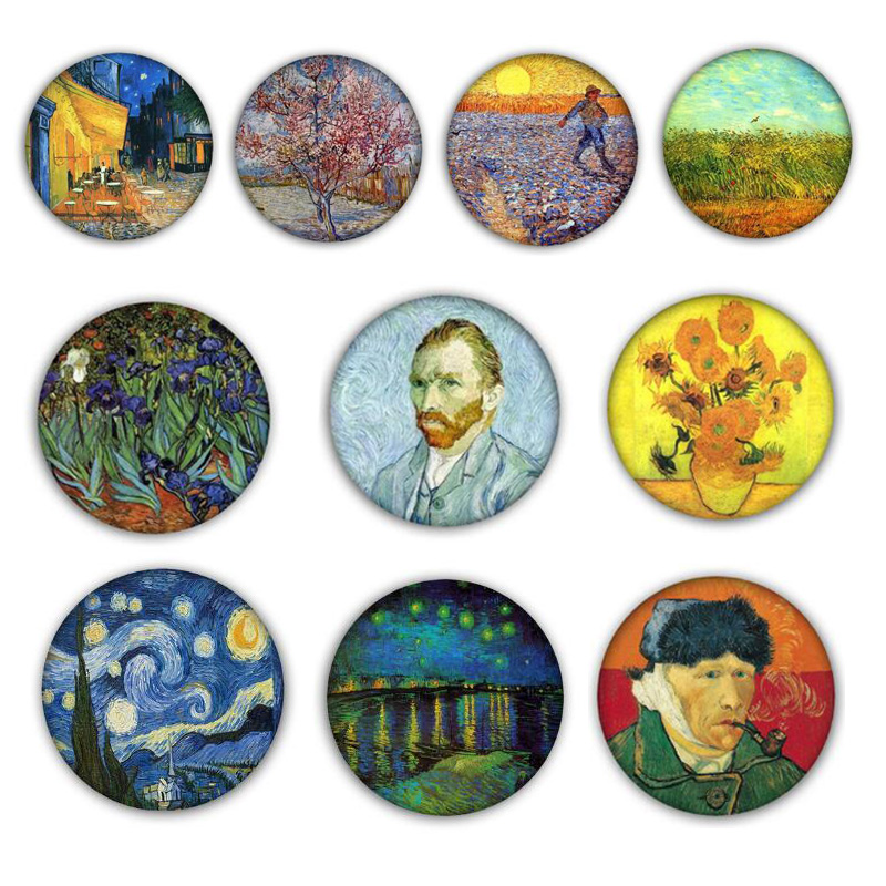 Pinback Buttons Badges Pins Painting Horse Lapel Pin Brooch Clip Trendy Accessory Jacket T-Shirt Bag Hat Shoe