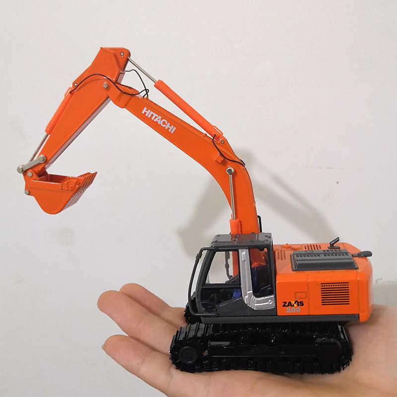 1/50 escala hitachi zaxis zh200 escavadora modelo fundido coleção diecast faixas veículo brinquedos caminhão carro diecast modelo