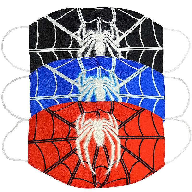 2020 Spiderman Children Face Mask Dustproof Breathable Anti-fog Haze Mask  Sun-resistant Cartoon Style Face Mask WHOLESALE