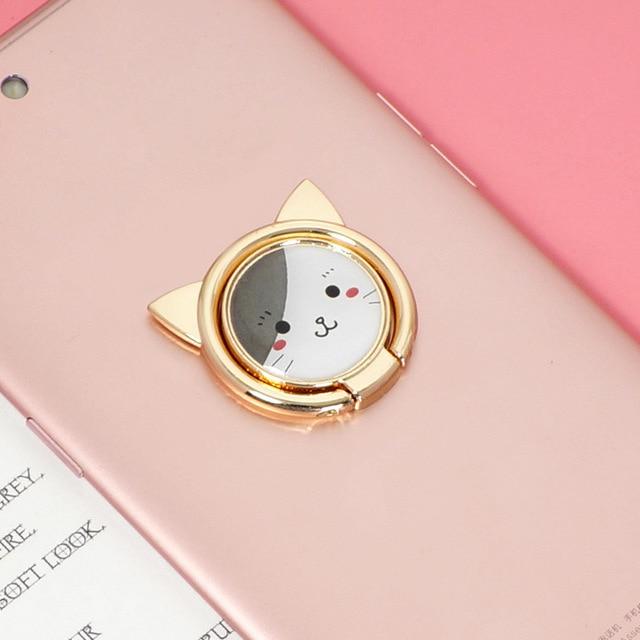 cat phone ring holder