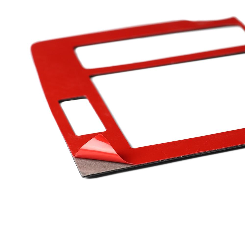 Купить с кэшбэком Car Interior Decoration Gear Shift Frame Pannel Air Vent Outlet Cover Trim Stickers For Toyota Land Cruiser Prado Carbon Fiber