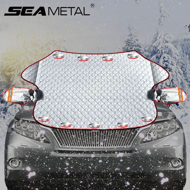 2019 Brand New Car Windscreen Cover Magnetic Car Window Screen Frost Ice Large Snow Dust Shield Protector Car Sunshades Covers-in Windshield Sunshades from Automobiles & Motorcycles