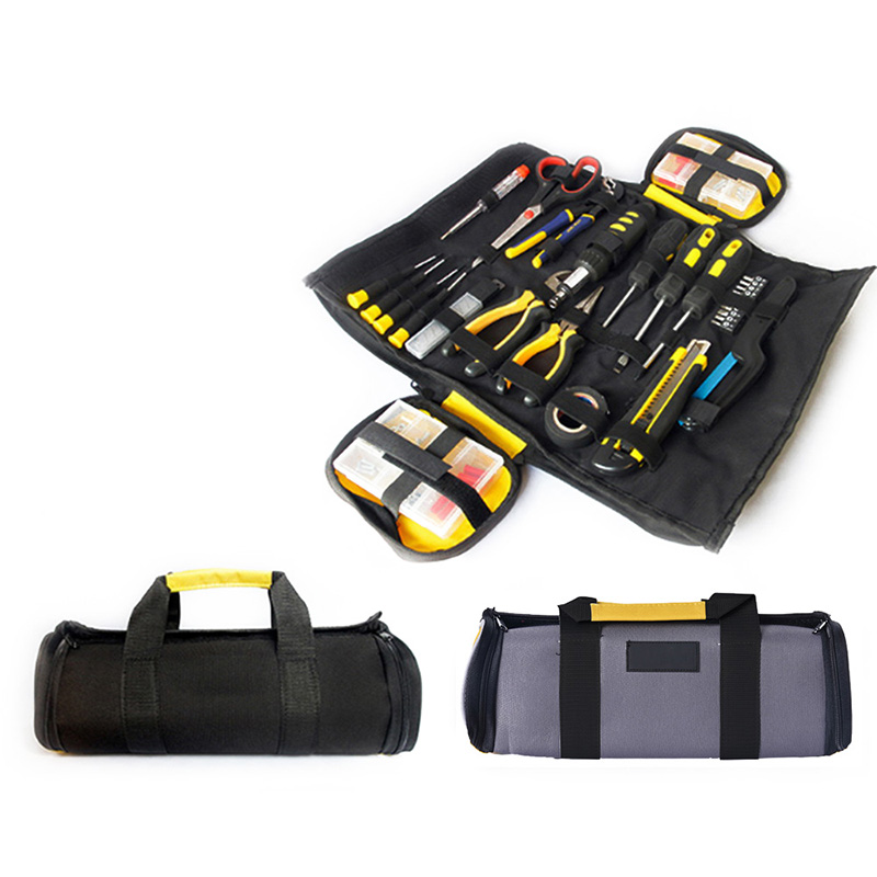 Multifunction Oxford Cloth Folding Wrench Bag Tool Roll Storage Pocket Tools Pouch Portable Case Organizer Holder Wide Mouth