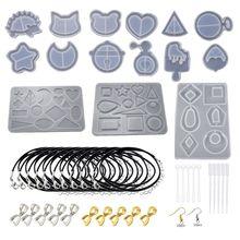 65 Pieces Pendulum Silicone Casting Molds, Cone Epoxy Resin Stone Crystal Column Pendant UV