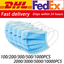 DHL Fedex 100/200/500/1000/2000/5000/10000pcs Disposable Face Mouth Mas