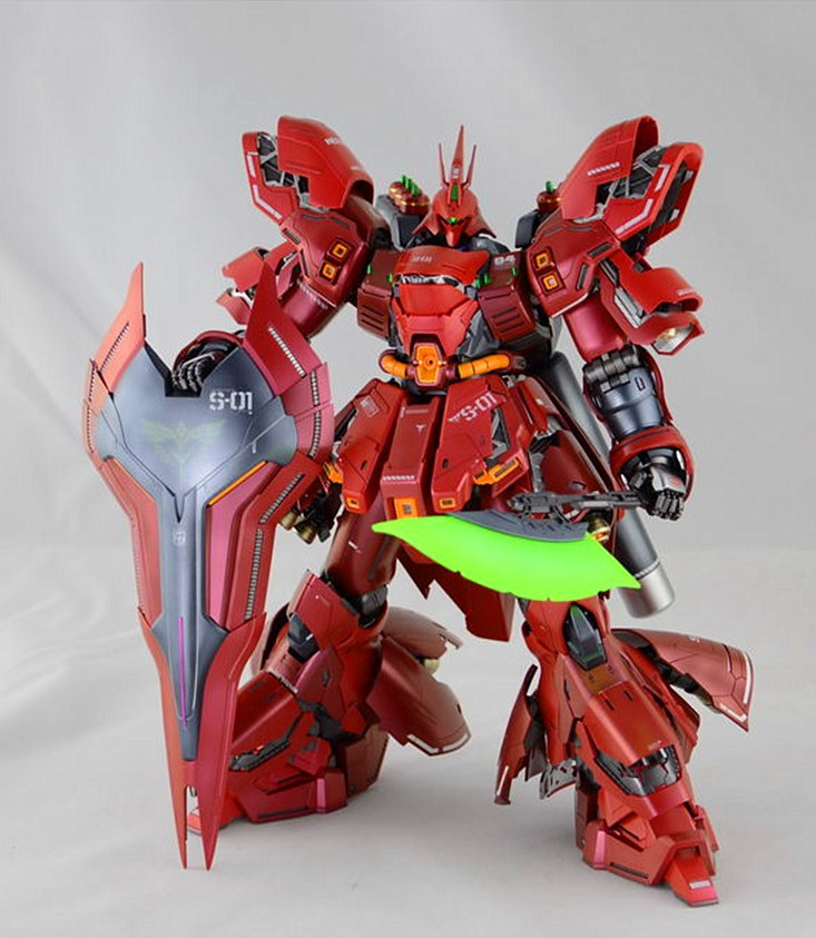 China Model Gundam MG 1/100 Model MSN-04 SAZABI Ver .KA  Mobile Suit Kids Toys