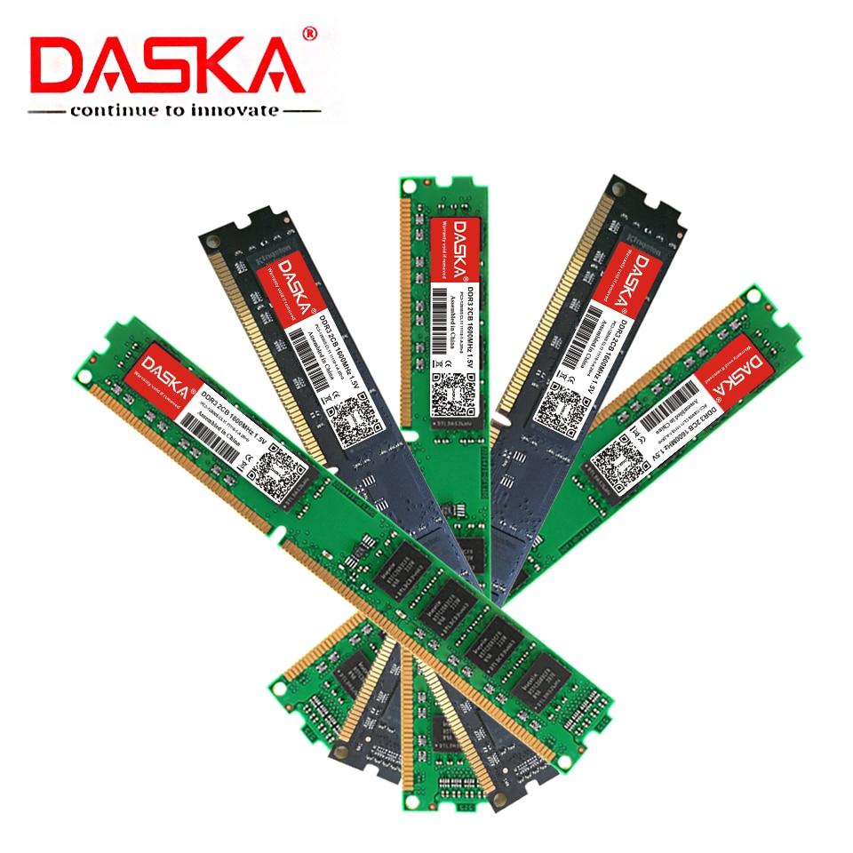 DASKA New DDR3 8GB 4GB 2GB 1600/1333 MHz PC3-12800/10600 Desktop Memory DDR 3 Motherboard Ram DIMM