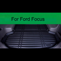 Fit For Ford Focus 2005 2018 1PC Car Styling Cargo Liner Car Trunk Mat Carpet Interior Floor Mats Leather Pad Auto Accessories