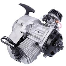 Samger 49cc Engine 2 Stroke Pull Start Mini Motor Start Engine For Motorcycle Dirt Bike Pocket Bike ATV