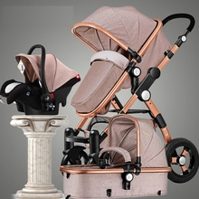 Baby Stroller 3 In 1 Luxury Umbrella Baby Strollers High Lan