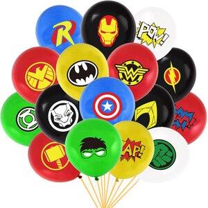 NUOVO 12 pollici Super hero palloncino Spiderman Iron Man Hulk Double sided lattice ballons Avengers Di Compleanno Decorazione del Partito del bambino del capretto giocattolo(China)