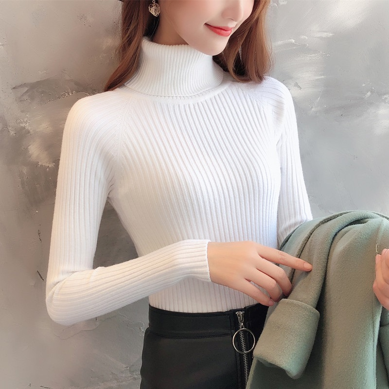 Autumn Turtleneck Sweater Female 2019 Winter Cashmere Knitted Women Sweater And Pullover Female Tricot Jersey Jumper Pull Femme