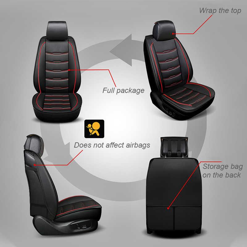 Чехлы для автомобильных сидений, четыре сезона, универсальные, подходят для 5/7 сидений, водонепроницаемые, из искусственной кожи, чехлы для автомобильных сидений