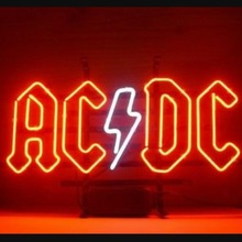 Custom Ac Dc Terug In Zwart Glas Neon Light Teken Beer Bar