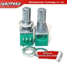 50 piezas RV097NS B5K B10K B20K B50K B100K B500K 5PIN solo con potenciómetro con un interruptor de audio de potenciómetro