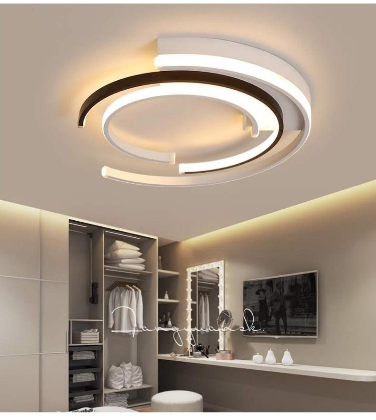 H54890b3b7b644172b32caef70281d03ew LICAN Modern LED Ceiling Lights Living room Bedroom lustre de plafond moderne luminaire plafonnier White Black LED Ceiling Lamp