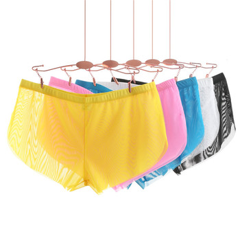 Sexy Mesh Arrow Underwear Men s Boxer Shorts Gauze Male Transparent Pants Gay