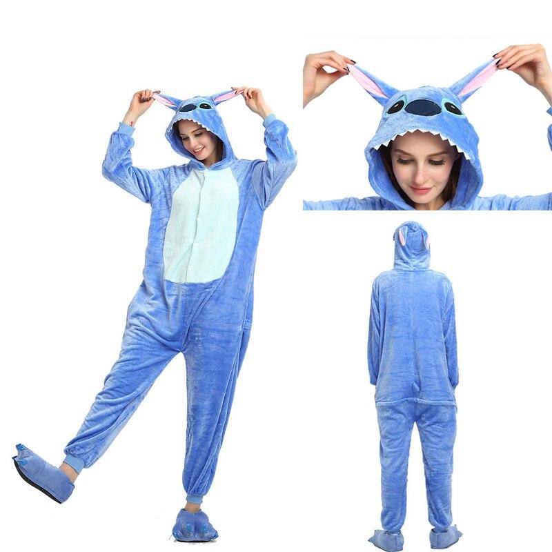 Adults and Children's Stitch Kigurumi Animal Onesies Unicorn Pajamas Cartoon  Unicornio Women Men