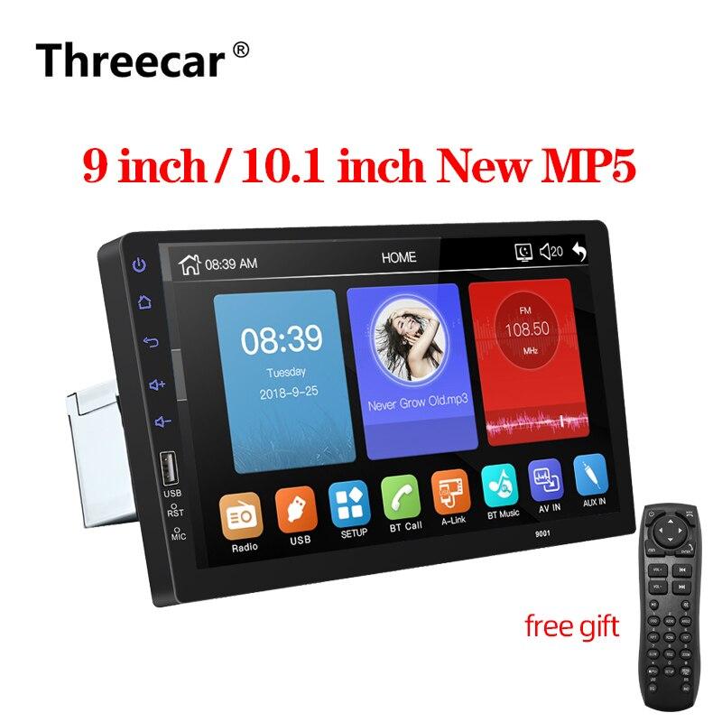9 10. 1 дюймов Автомобильный мультимедийный плеер 1 din автомобильный Радио Bluetooth USB камера заднего вида MP5 плеер авторадио без android