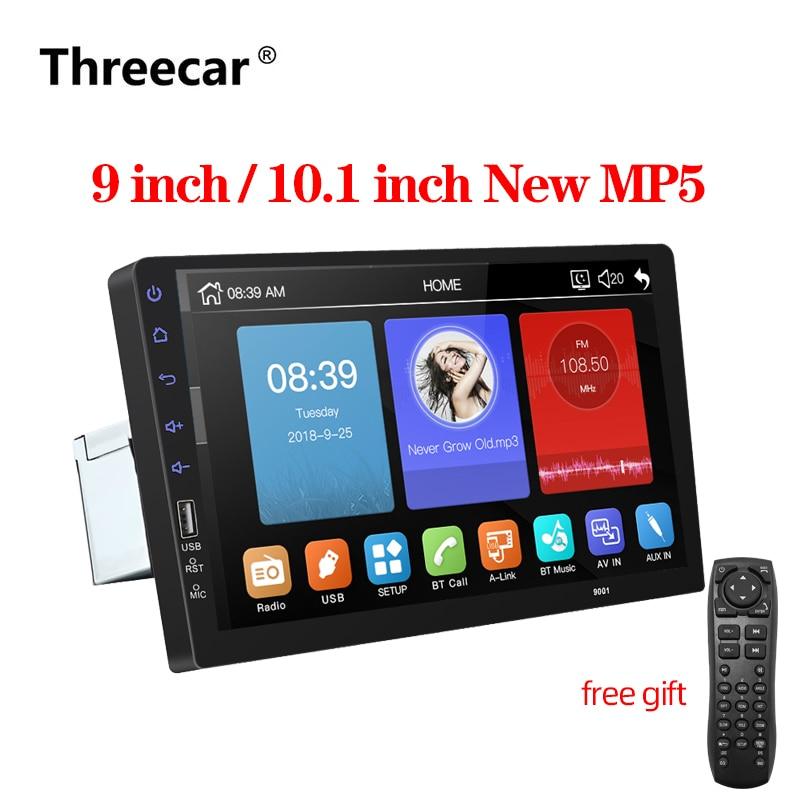 9''10. 1 pollici car multimedia player 1 din car radio Bluetooth USB della macchina fotografica di inverso MP5 Lettore Autoradio NESSUN android