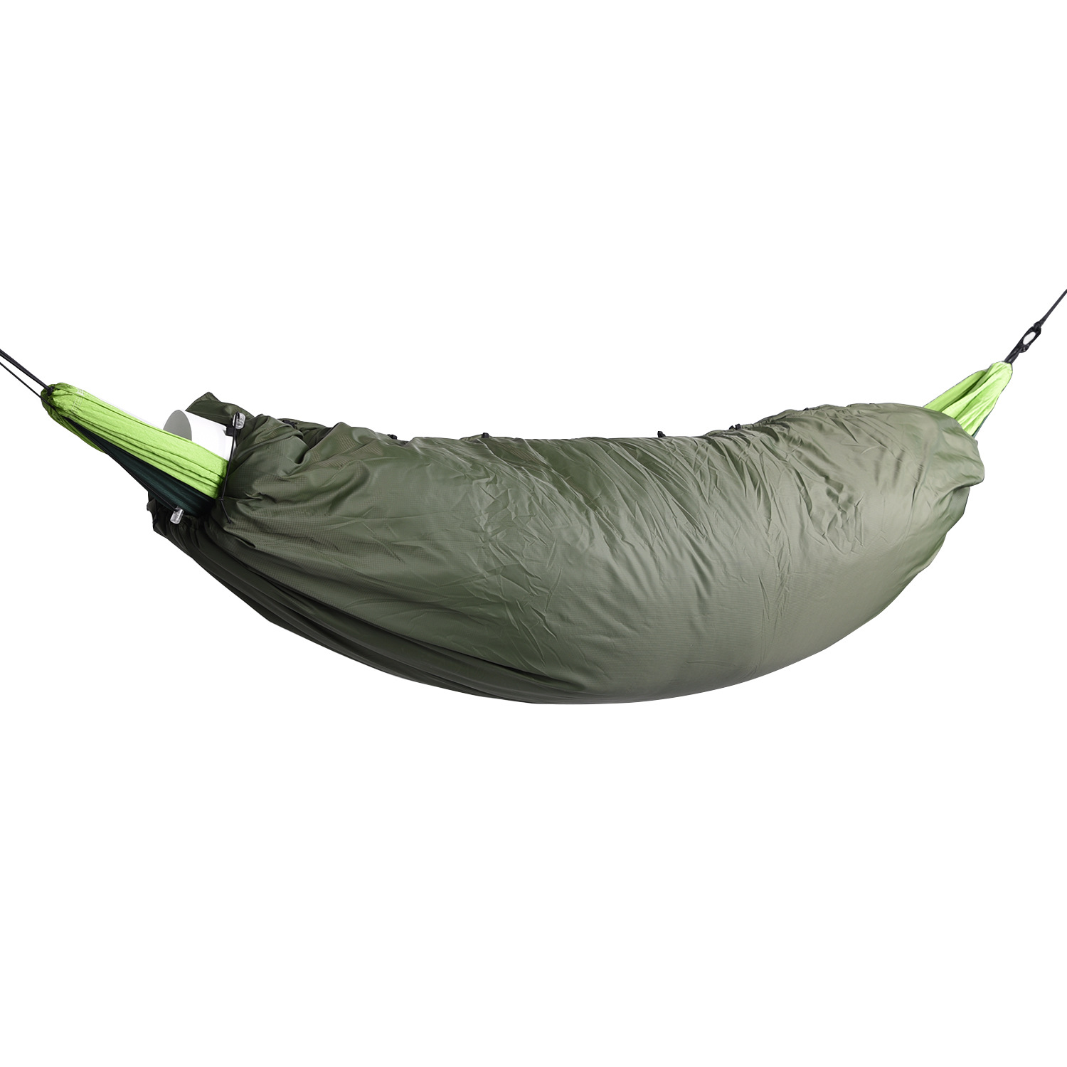 Cross Border for Green Outdoor Polydown Hammock Sleeping Bag Autumn And Winter Camping Angling Portable Heat Cover